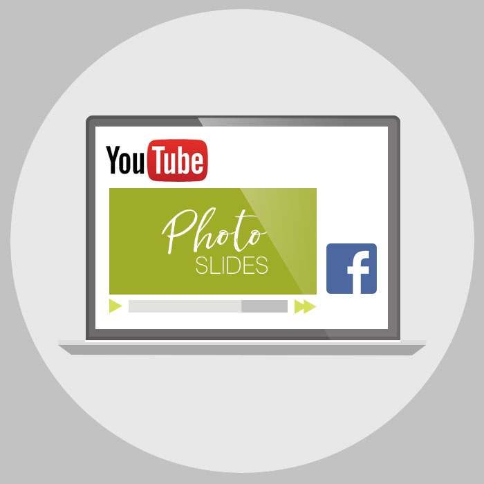 share video presentation on YouTube or Facebook