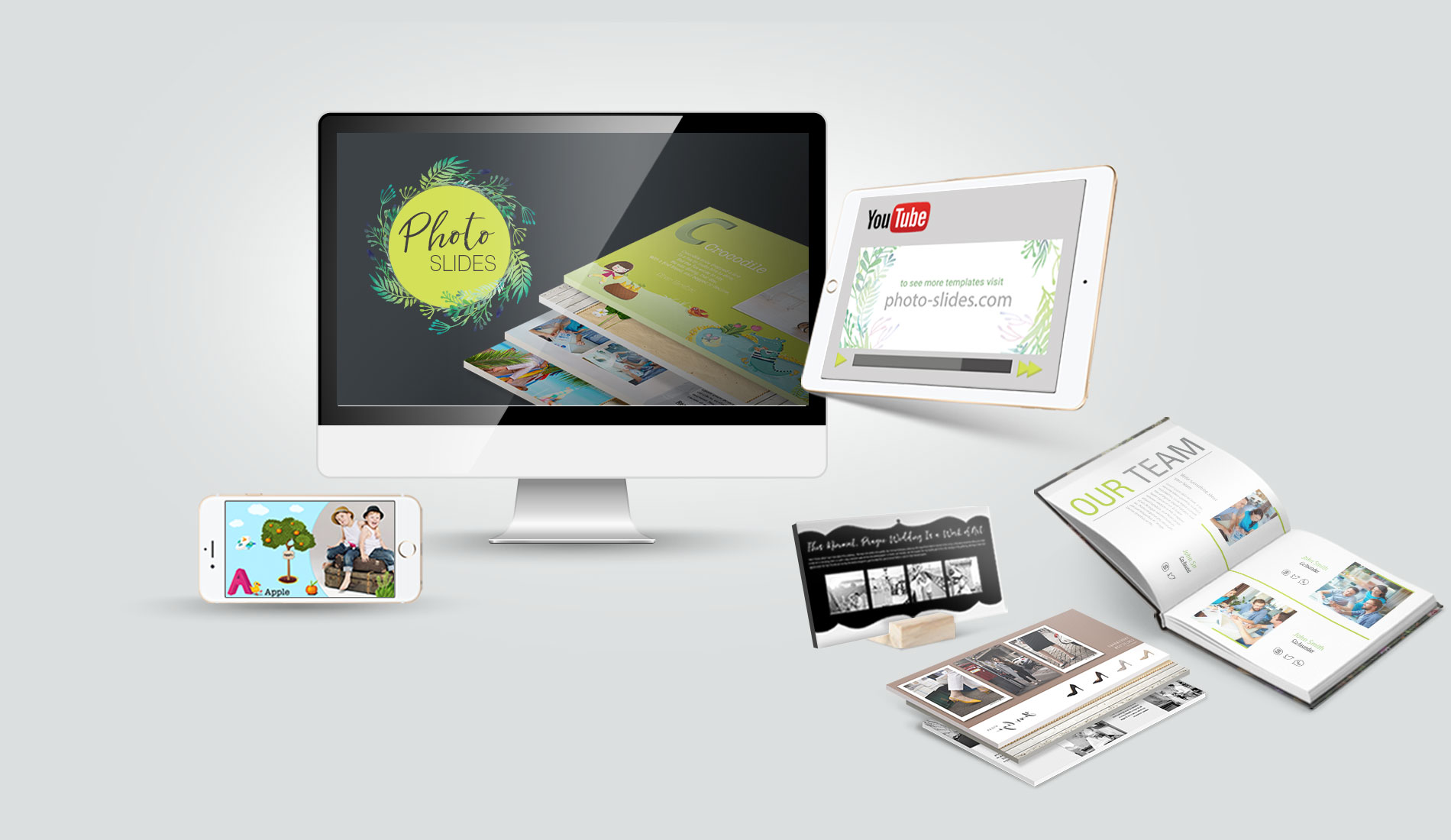 presentations to video and printed cards